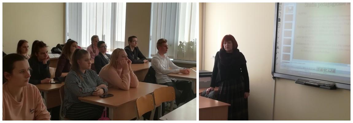 Spotkanie z przedstawicielką Akademii Edukacyjnej Uniwersytetu Witolda Wielkiego