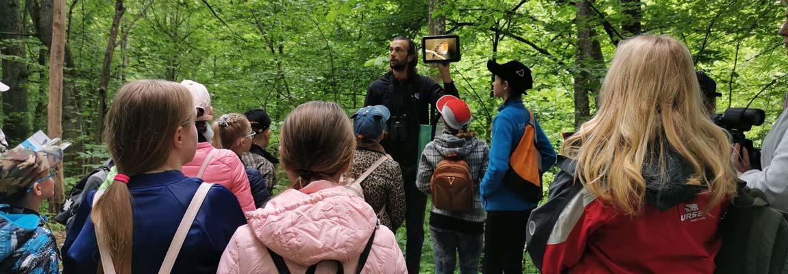 """Projekto Erasmus+ """"Birds without Borders"""" ornitologinė išvyka"""