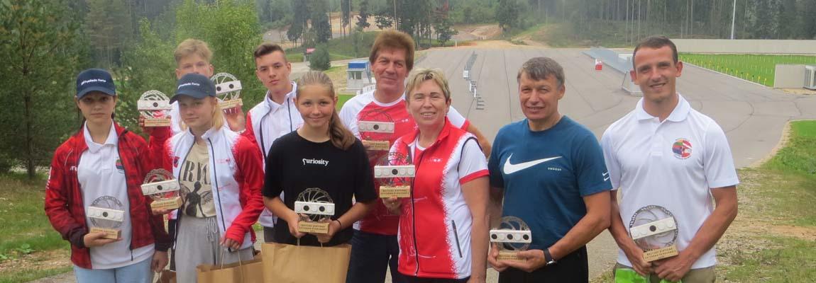 Medale uczniów Gimnazjum im. K. Parczewskiego w Niemenczynie na biatlonowych zawodach Pucharu Państw Bałtyckich w Madonie
